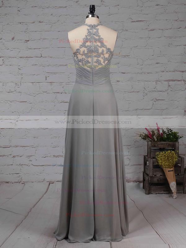 Empire V-neck Floor-length Chiffon Tulle Ruffles Bridesmaid Dresses #PDS01013463