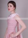 Chiffon A-line Bateau Knee-length Pleats Bridesmaid Dresses #PDS02013632