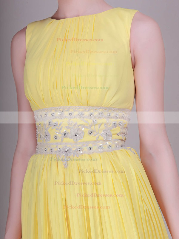 Organza Sheath/Column Bateau Short/Mini Ruffles Bridesmaid Dresses #PDS02013633