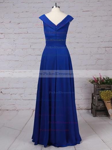A-line V-neck Floor-length Chiffon Ruffles Bridesmaid Dresses #PDS01013522