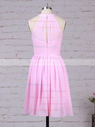 A-line Scoop Neck Knee-length Chiffon Ruffles Bridesmaid Dresses #PDS01013530