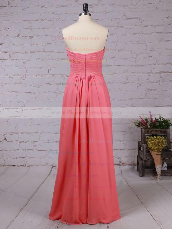 Empire Sweetheart Floor-length Chiffon Ruffles Bridesmaid Dresses #PDS01013531