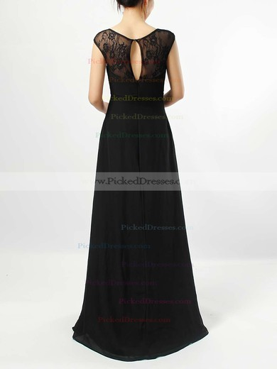 Empire V-neck Floor-length Lace Chiffon Ruffles Bridesmaid Dresses #PDS01013582