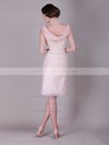 Chiffon A-line Scoop Knee-length Bow Bridesmaid Dresses #PDS02013680