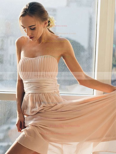 Empire Sweetheart Floor-length Chiffon Sashes / Ribbons Bridesmaid Dresses #PDS01013692