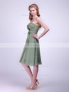 Chiffon A-line Sweetheart Knee-length Pleats Bridesmaid Dresses #PDS02042133