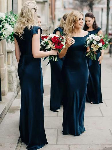 Sheath/Column Square Neckline Floor-length Silk-like Satin Bridesmaid Dresses #PDS01013634
