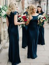 Sheath/Column Square Neckline Floor-length Silk-like Satin Bridesmaid Dresses #PDS01013634