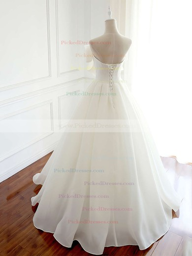 Ball Gown Strapless Floor-length Organza Bow Wedding Dresses #PDS00023337