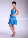 Chiffon A-line Sweetheart Short/Mini Pleats Bridesmaid Dresses #PDS02042145