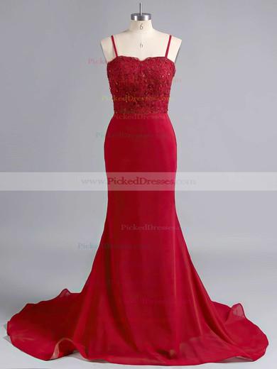 Sheath/Column Jersey Sweep Train Appliques Lace Beautiful Bridesmaid Dresses #PDS010020102223