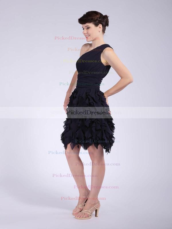 Chiffon A-line One Shoulder Knee-length Ruffles Bridesmaid Dresses #PDS02042147