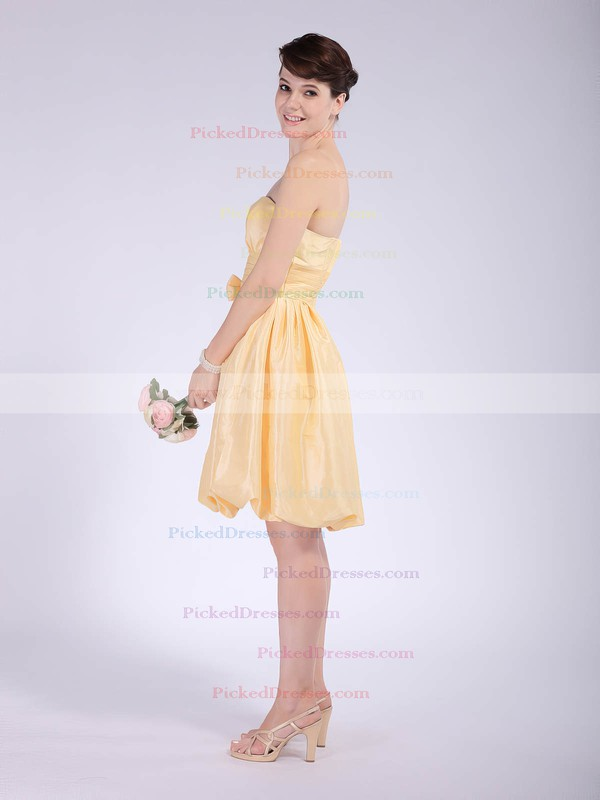 Taffeta Empire Strapless Knee-length Bow Bridesmaid Dresses #PDS02042148