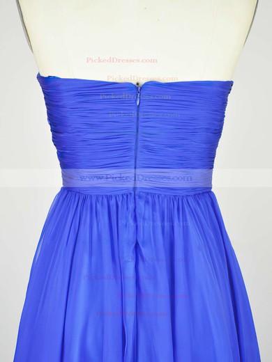 Empire Sweetheart Chiffon Floor-length with Pleats Bridesmaid Dresses #PDS010020104239