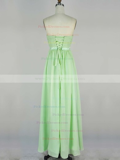A-line Sweetheart Chiffon Floor-length with Sashes / Ribbons Bridesmaid Dresses #PDS010020104243