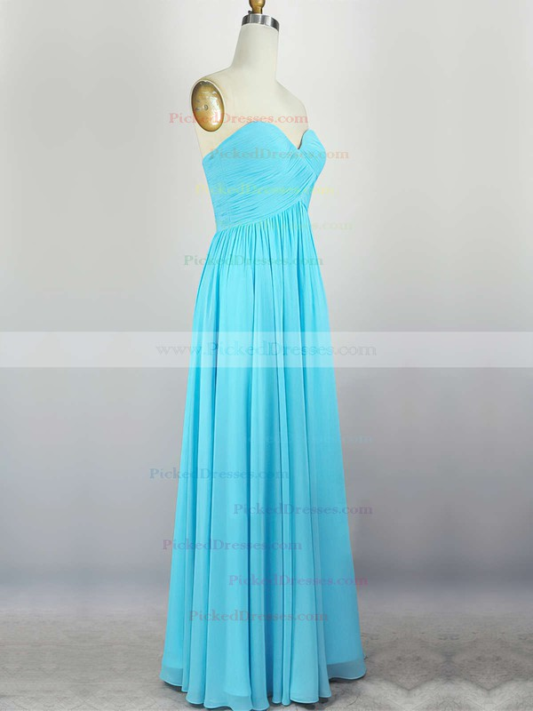 Empire Sweetheart Chiffon Floor-length with Pleats Bridesmaid Dresses #PDS010020104308