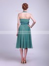 Chiffon Empire Halter Tea-length Sashes/Ribbons Bridesmaid Dresses #PDS01012016