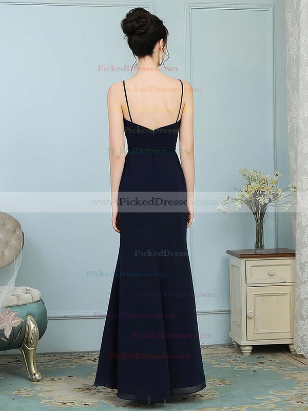 Trumpet/Mermaid Scoop Neck Floor-length Chiffon Sashes / Ribbons Bridesmaid Dresses #PDS01013756