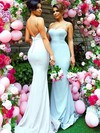 Trumpet/Mermaid Sweetheart Sweep Train Silk-like Satin Bridesmaid Dresses #PDS01013745