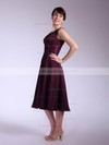 Chiffon Empire V-neck Tea-length Sashes/Ribbons Bridesmaid Dresses #PDS01012030