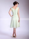 Chiffon A-line V-neck Tea-length Pleats Bridesmaid Dresses #PDS01012032