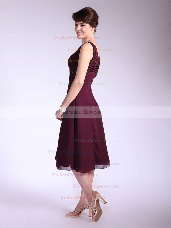 Chiffon A-line Square Tea-length Ruffles Bridesmaid Dresses #PDS01012033