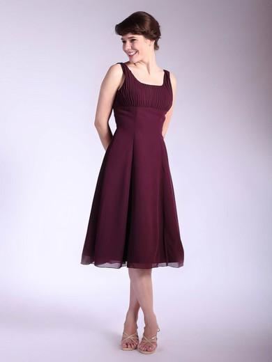 Chiffon A-line Square Tea-length Ruffles Bridesmaid Dresses #PDS01012033
