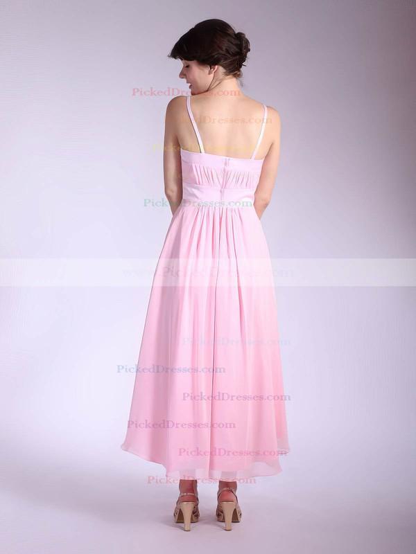 Chiffon A-line Square Asymmetrical Pleats Bridesmaid Dresses #PDS01012034