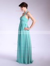 Chiffon Empire Halter Floor-length Pleats Bridesmaid Dresses #PDS01012035