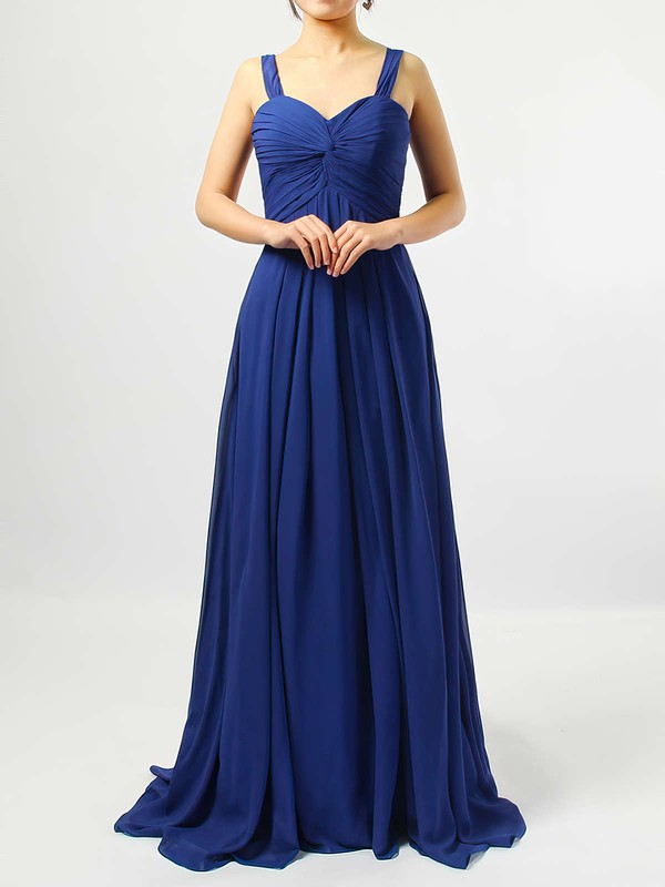 Empire Sweetheart Chiffon Floor-length Criss Cross Bridesmaid Dresses #PDS01013545