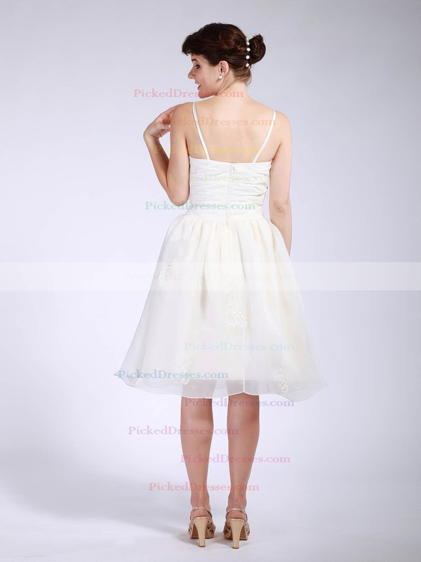 Organza BallGown Sweetheart Knee-length Pleats Bridesmaid Dresses #PDS01012047
