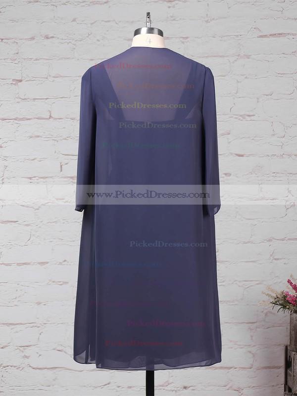 A-line Square Neckline Chiffon Knee-length Ruffles Mother of the Bride Dresses #PDS01021666