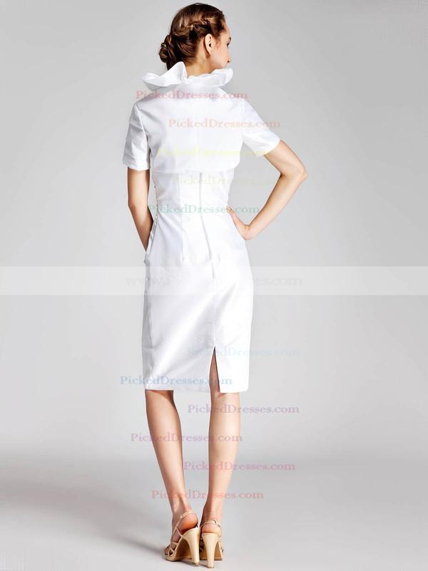 Taffeta Sheath/Column Strapless Knee-length Pleats Bridesmaid Dresses #PDS02013675