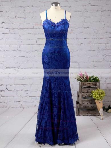 Trumpet/Mermaid Sweetheart Sweep Train Lace Ruffles Prom dresses #PDS02016794