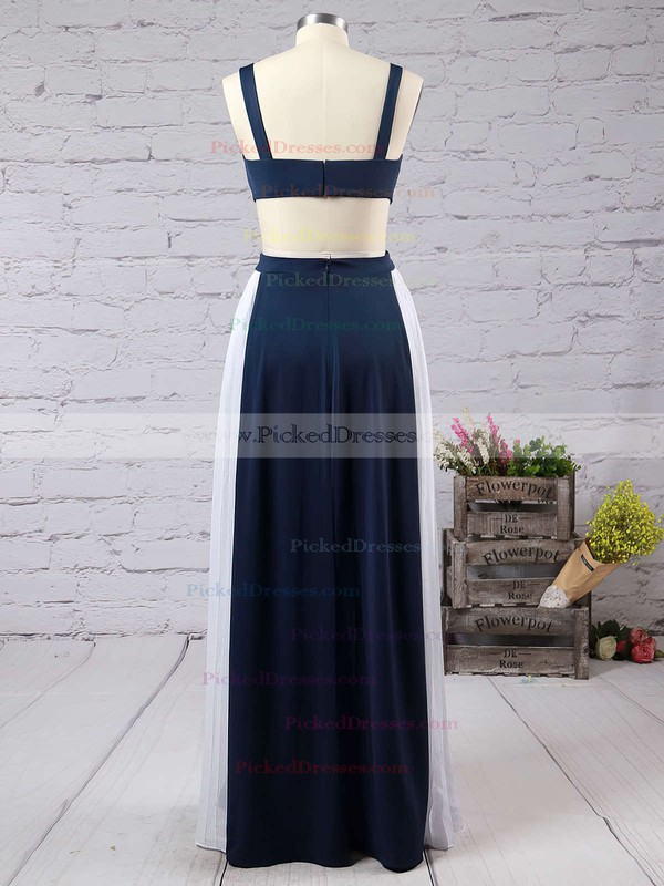 A-line Square Neckline Chiffon Ruffles Floor-length Backless New Arrival Prom Dresses #PDS020103026