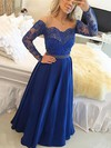 A-line Scoop Neck Floor-length Chiffon Tulle with Beading Prom Dresses #PDS020104440