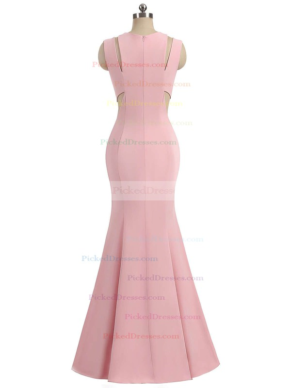 Trumpet/Mermaid Scoop Neck Sweep Train Ruffles Prom Dresses #PDS020105015