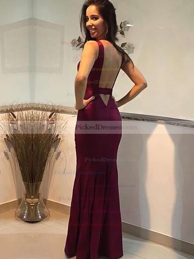 Trumpet/Mermaid V-neck Floor-length Prom Dresses #PDS020105253