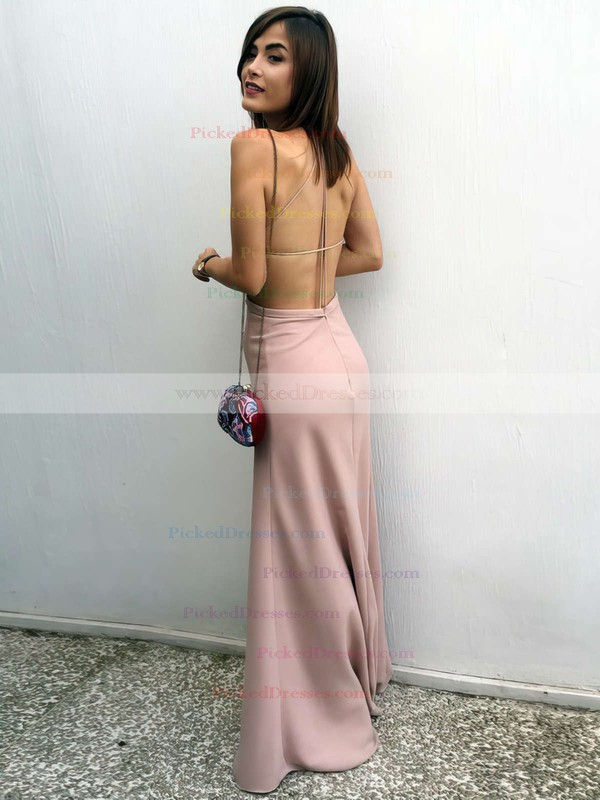 Sheath/Column Square Neckline Floor-length Prom Dresses #PDS020105366