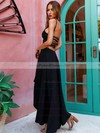 A-line Scoop Neck Asymmetrical Prom Dresses #PDS020105406