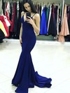 Trumpet/Mermaid V-neck Sweep Train Prom Dresses #PDS020105485
