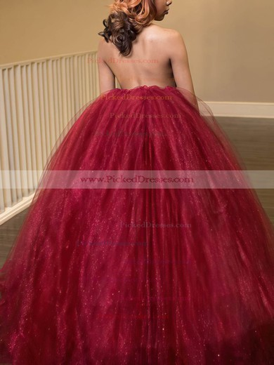 Ball Gown Halter Floor-length Organza Prom Dresses #PDS020105653