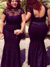Trumpet/Mermaid Scoop Neck Floor-length Lace Lace Prom Dresses #PDS020105962