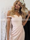 A-line Off-the-shoulder Asymmetrical Bow Prom Dresses #PDS020106040