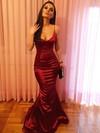 Trumpet/Mermaid V-neck Floor-length Prom Dresses #PDS020106041