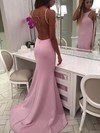 Trumpet/Mermaid Scoop Neck Sweep Train Prom Dresses #PDS020106047
