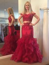 Trumpet/Mermaid Off-the-shoulder Floor-length Satin Tulle Appliques Lace Prom Dresses #PDS020106097