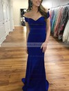 Trumpet/Mermaid Off-the-shoulder Sweep Train Jersey Prom Dresses #PDS020106218