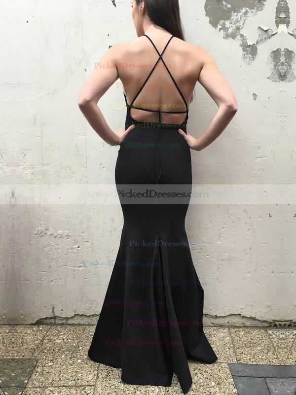 Trumpet/Mermaid Scoop Neck Floor-length Jersey Prom Dresses #PDS020106262