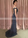 Trumpet/Mermaid Off-the-shoulder Sweep Train Jersey Prom Dresses #PDS020106269